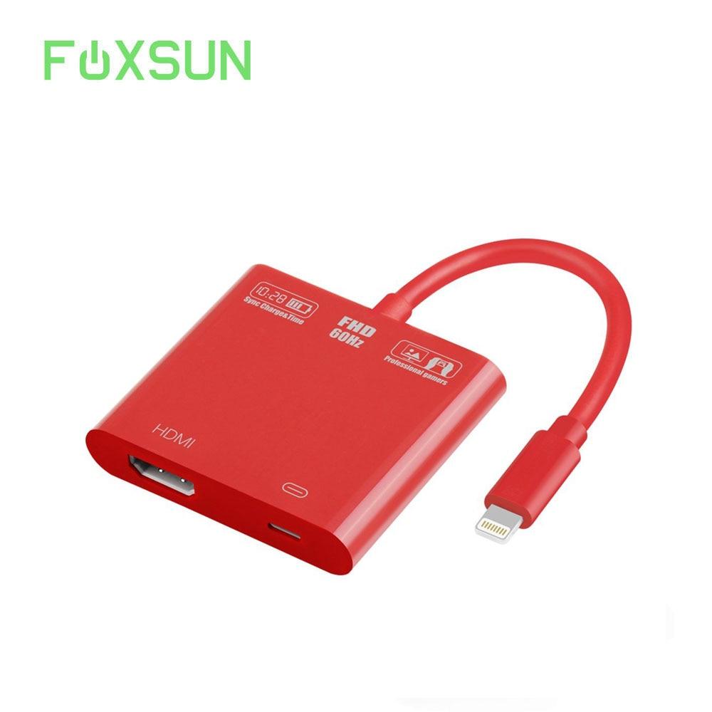 1080 p 8 pinos para relâmpago para hdmi adaptador de vídeo fêmea para relâmpago cabo de carregamento, para relâmpago digital av adaptador para iphone