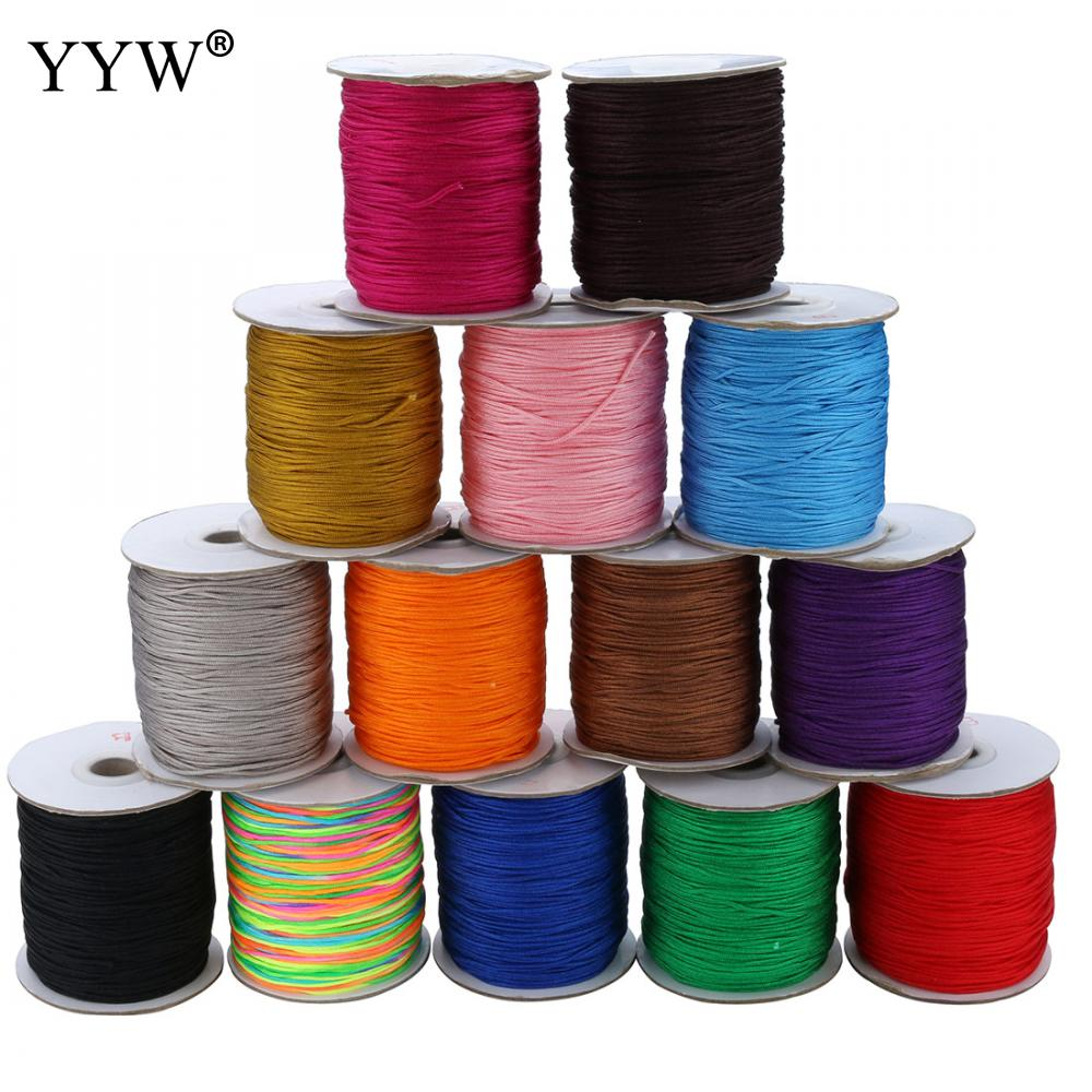 Hot 1pc 230m 1mm Nylon Cord Thread Chinese Knot Macrame Cord Bracelet Braided String Diy Tassels Beading European String Thread