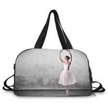 Sac de sport avec sac de sport de grande capacité ballet danseur sac de voyage sac porte-chaussures pour ballet yoga et salle de sport
