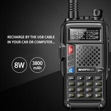 2020 BAOFENG BF-UVB3 PLUS 8W High Power UHF/VHF Dual Band 10KM Lange Palette Thickenbattery Walkie Talkie mehrere Lade Modus