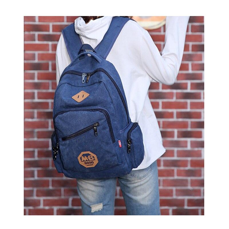 2020 New Vintage Fashion Man's Canvas Backpack Travel Schoolbag Male Backpack Men Large Capacity Rucksack Shoulder School Bag