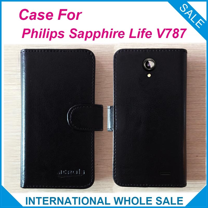 Precio de fábrica 6 colores Funda de cuero de alta calidad exclusiva para Philips zafiro Life V787 número de seguimiento