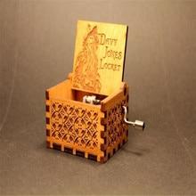 Anonymity  wooden hand crank Pirates of the Caribbean Music Box  Davy Jones Locket theme Wooden Music Box