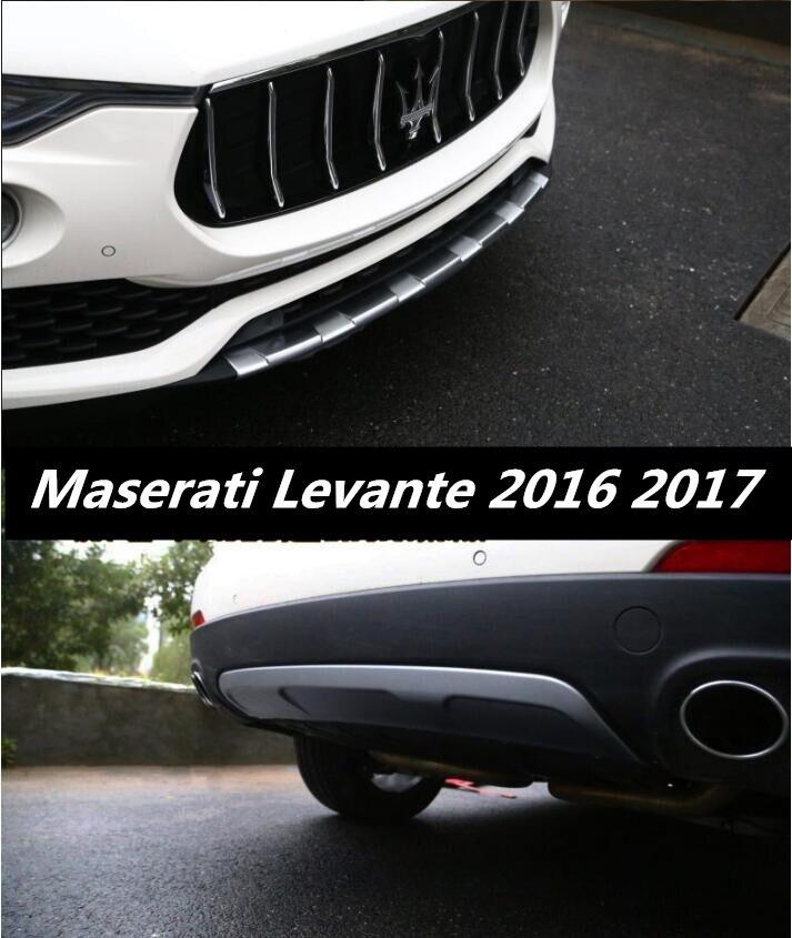 Plaque protectrice des chocs avant et arrière   2 pièces, plaque de protection pour 16 17 Maserati Levante 2016 2017 2018 par EMS