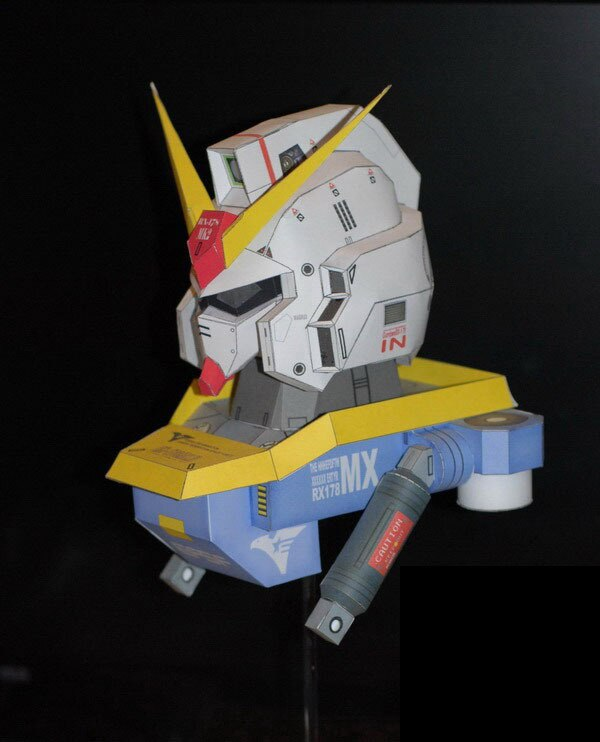 Gundam bust Rx-178 Mk2 Avatar 3D paper model DIY