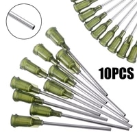 10pcs syringe needle tip dispensing stainless steel needles with luer lock 14 ga 1 5inch for industrial mixing liquid