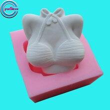 Grande-Mold Sexy Del Seno In Silicone FAI DA TE Sapone Stampi 3D Stampo In Silicone decorazione di Una Torta Al Cioccolato Della Muffa