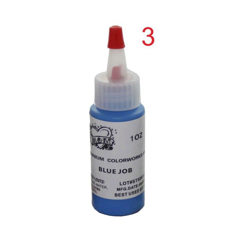 5 sztuk/partia niebieski pracy kolorów atramentu makijaż permanentny atrament pigmentowy zestaw tatuaż 30 ml (1 OZ) tatuaż zestaw farb do malowania tatuaż na brwi pigment