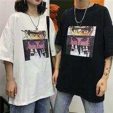 Naruto t shirt O-Neck streetwear Loose ulzzang Cool Japanese Anime Tshirt hip hop tshirt Large Size Short Sleeve men/women