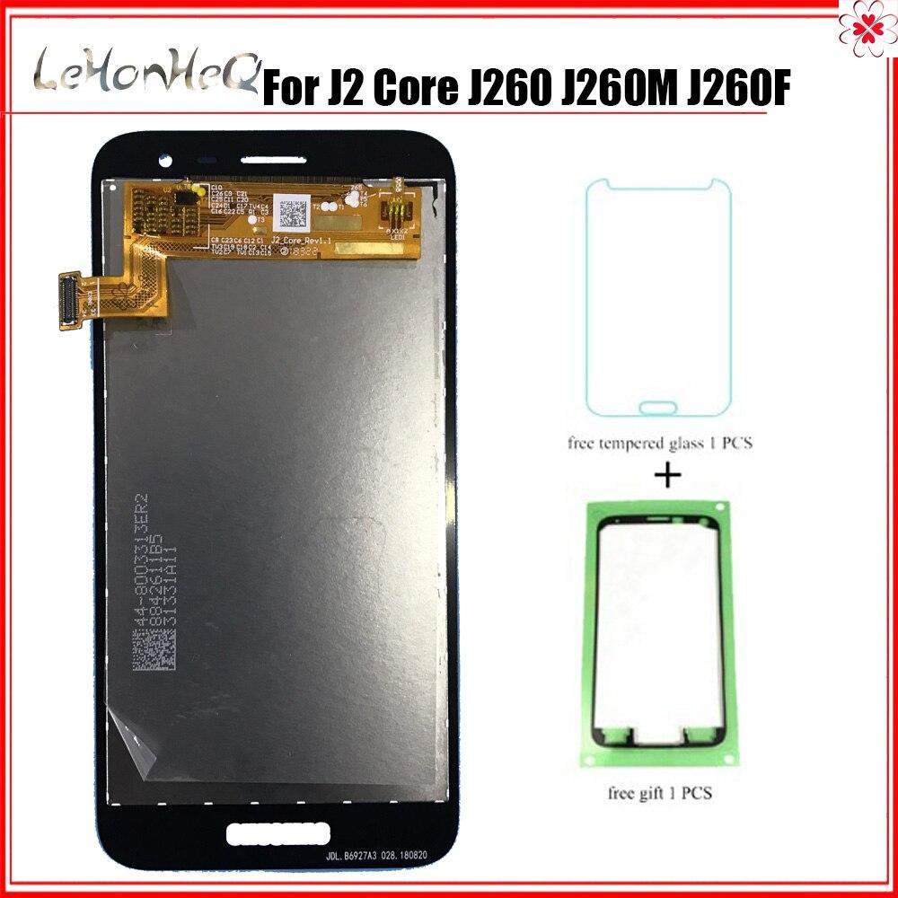 Тест AMOLED для samsung Galaxy J2 core J260 SM-J260M ЖК-дисплей сенсорный экран дигитайзер сборка для samsung J2 core J260F J260G