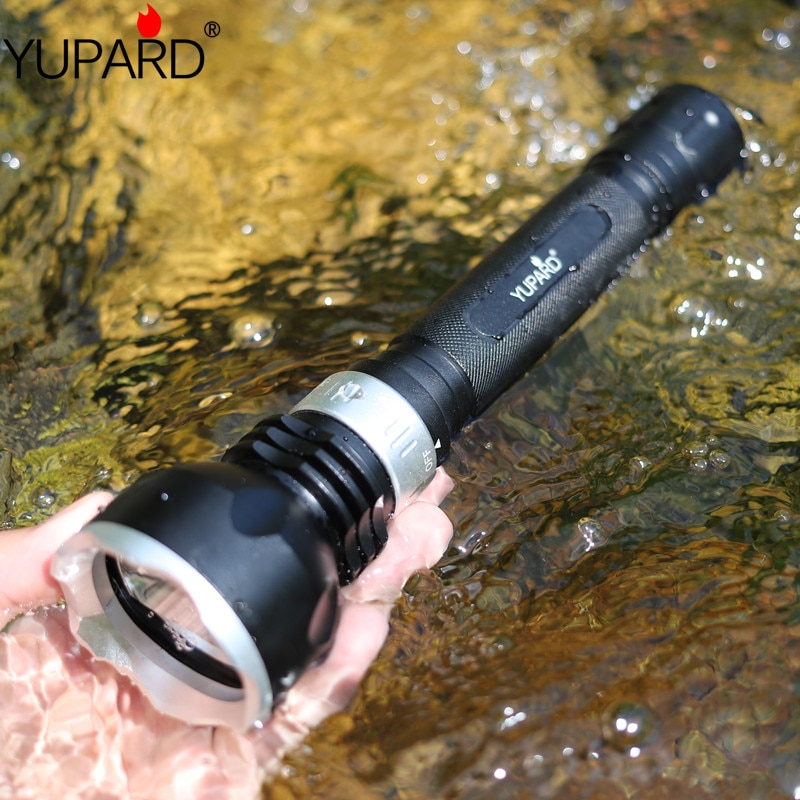 YUPARD waterproof underwater diver diving XM-L2 LED T6 flashlight torch light 18650 rechargeable defense camping outdoor lamp