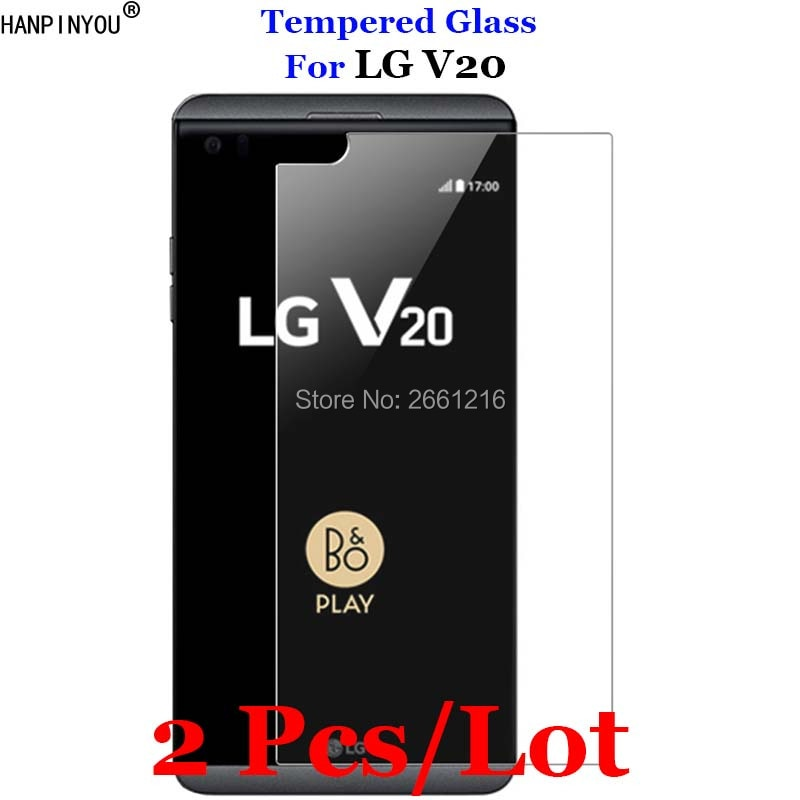"2 unids/lote para LG V20/Dual 5,7 ""de vidrio templado 9H 2.5D protector de pantalla Premium Film para LG V 20"