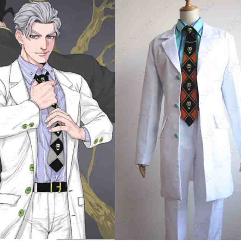 Anime JoJo's Bizarre Adventure Kira Yoshikage Cosplay Costume Tailor  Made  5 colors