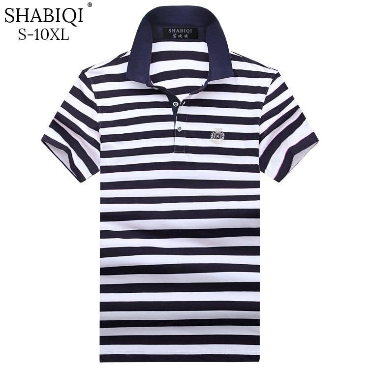 SHABIQI clásico de la marca de los hombres, camisa de los hombres camisa de Polo de los hombres de manga corta Polos T de camisa de Polo de talla grande 6XL 7XL 8XL 9XL 10XL