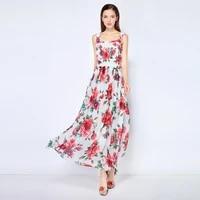new designer high quality womens fashion dress peony flower amazing runway elegant casual white beach ladies summer midi dress