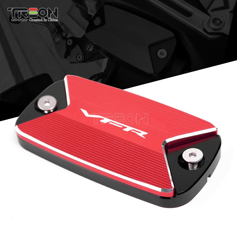Tapa de depósito de líquido de tapa de freno delantero de aluminio CNC Farme Ornamental para Honda VFR800F VFR 800F accesorios de motocicleta