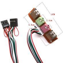 2 USB PC bilgisayar durumda 6.8CM ön Panel USB ses portu Mic kulaklık kablo değiştirme aksesuarları toptan PC adaptörü addon