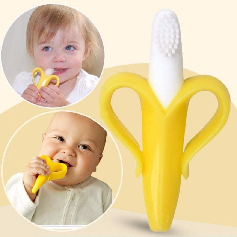 Wysokiej jakości i bezpieczne dla środowiska gryzaki dla niemowląt Baby Cute grzechotka do kołyski zginalny trening treningowy szczoteczka do zębów
