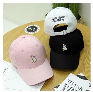 Fashion Gorras 2021 Summer New Adult Caps Korean Ulzzang Harajuku Novelty Couple Snapback Cap Hip Hop Pink Baseball Hat Women