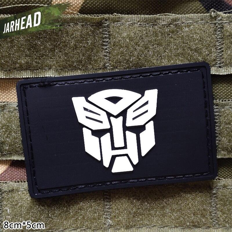 Трансформаторы военные ПВХ нашивки липучка резиновая нашивка Тактический значок личности для кронштейн одежда куртка