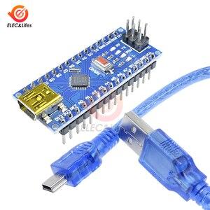 Nano V3.0 3, 0 Mini USB драйвер ATmega328 ATmega328P 5 в микроконтроллера CH340 для Arduino, замена FT232RL с Usb кабелем