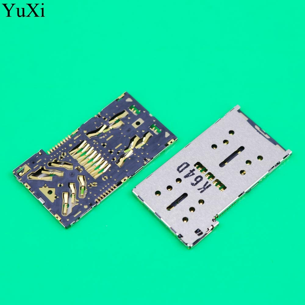 YuXi For Xperia X Compact F5321 XZ2 H8216 XZ2 Compact H8314 H8324 Brand New SIM Card Reader SIM Card Socket SIM Card Slot dower me micro sd card sim card reader holder connector for sony xperia xz2 xz3 h8216 h8266 h8276 h8296 h9493