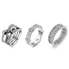 Noeud papillon couleur argent anneau Xo motif plein scintillant Micro pavé bague en CZ pour les femmes bijoux
