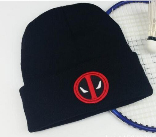 Deadpool, sombrero de los hombres de las mujeres sombrero de invierno de punto de lana Unisex de sombrero Casual Gorro de