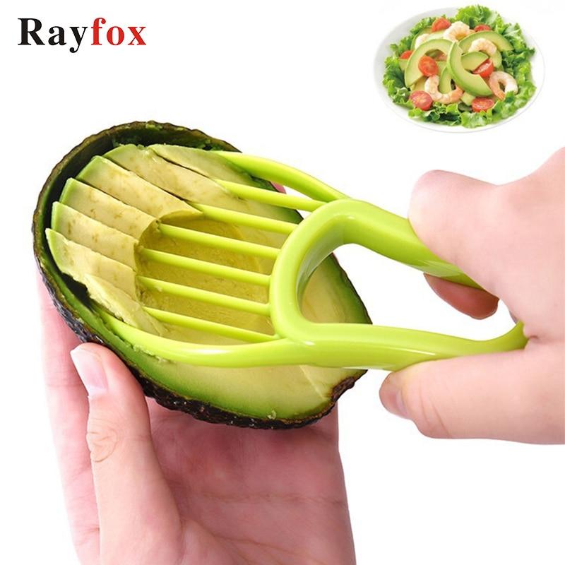 Rebanadora de aguacate 3 en 1 pelador de centros de mantequilla pelador de fruta cortador separador de pulpa cuchillo de plástico utensilios para verdura cocina Gadgets