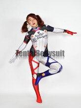 Impression 3D D.Va Harley Quinn Costumes Zentai body DVA Harley Halloween Cosplay Costume Catsuit
