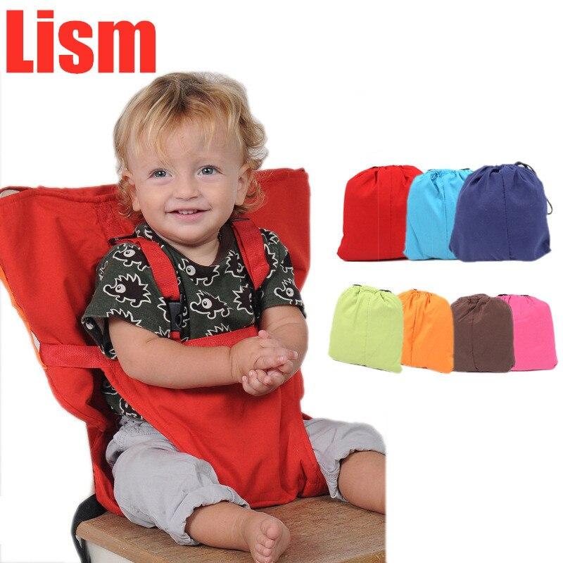 Lism детское портативное сиденье, детское кресло для путешествий, складное, моющееся, для младенцев, обеденный высокий обеденный чехол, ремень безопасности для сиденья, для кормления, высокий стул