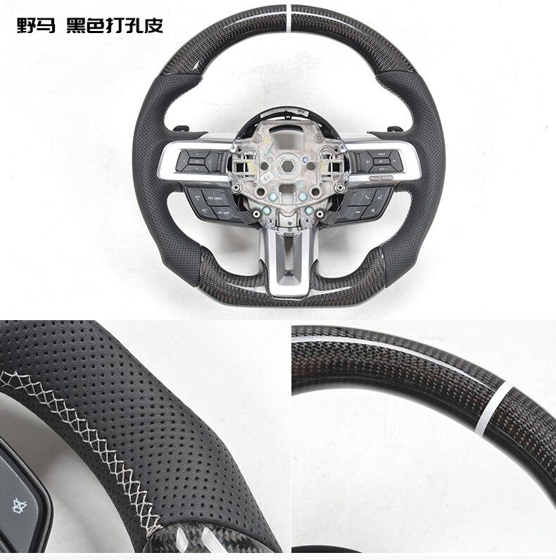 Adecuado para FORD MUSTANG 2014-2019 volantes de fibra de carbono