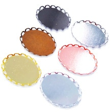 Wholesale Lot 500piece Lace Oval Pendant Tray Pendant Blanks 13x18mm 18x25mm Bezel Cabochon Settings PT33