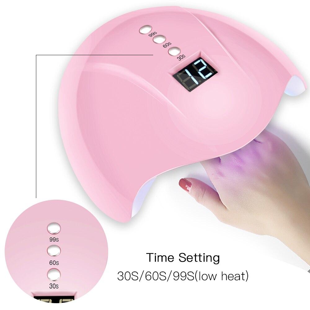 1 unids/caja 3 temporizador 30s/60s/99s UV lámpara Led para secado de uñas 12 Leds lámpara UV 36W para máquina de uñas secado secador para todo tipo de uñas Gel LD