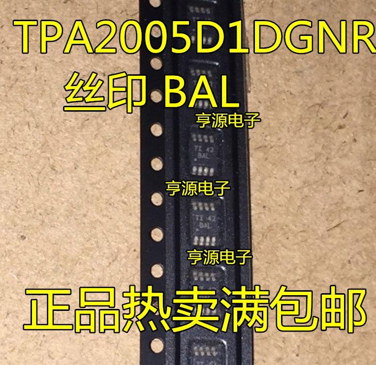 TPA2005D1 TPA2005D1DGNR pantalla de seda de BAL MSOP8 nuevo original amplificador de audio