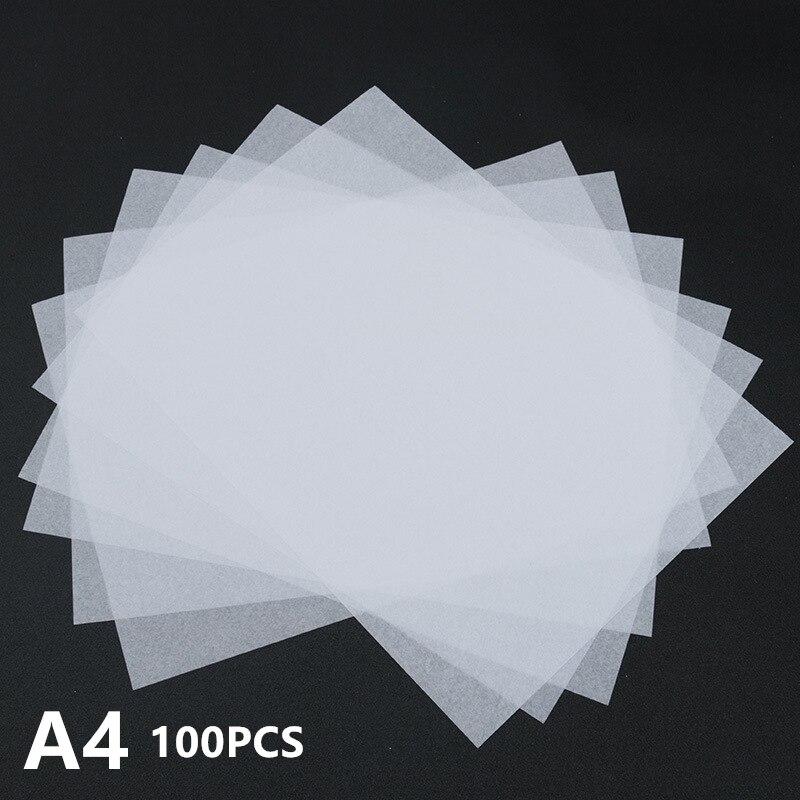 100 pezzi/lottp, Sottile Semi Trasparente Disegno Bastone Figure Del Tessuto di Carta di Imballaggio di Frutta Caratteri Cinesi di Carta In Bianco Copybooks