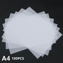 100 pièces/lot   Bâtonnets à dessin Semi-transparents et fins, en papier et tissu, emballage de fruits et de caractères chinois, cahier vierge