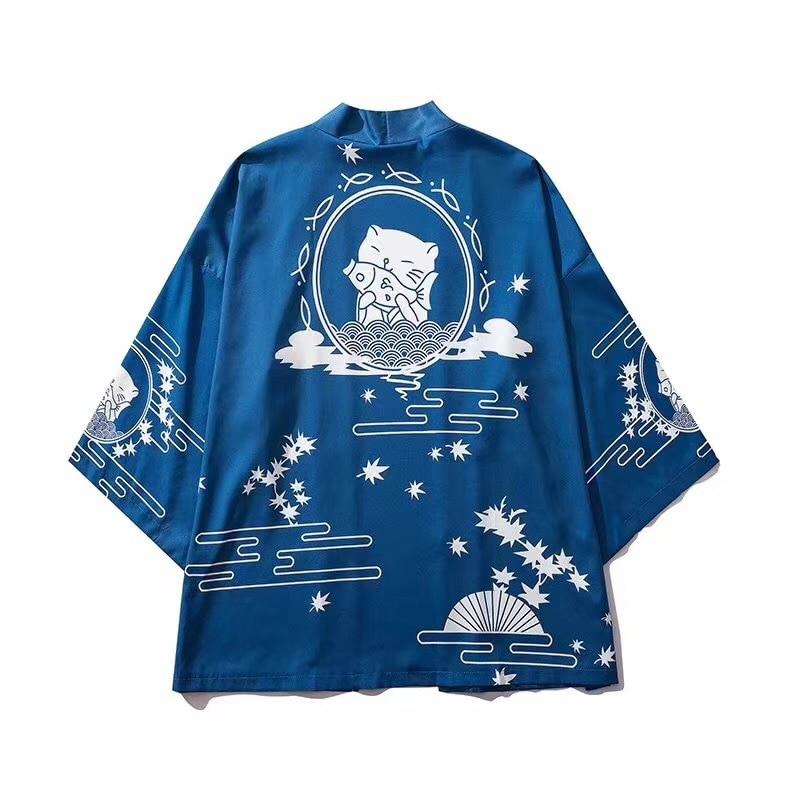 Japanese kimono men cardigan shirt blouse yukata men haori obi clothes samurai clothing male kimono cardigan