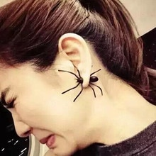 Black big Spider pendentes Punk Animal Stud Earring fashion JewelryKorean Trendy Clay Earrings For W