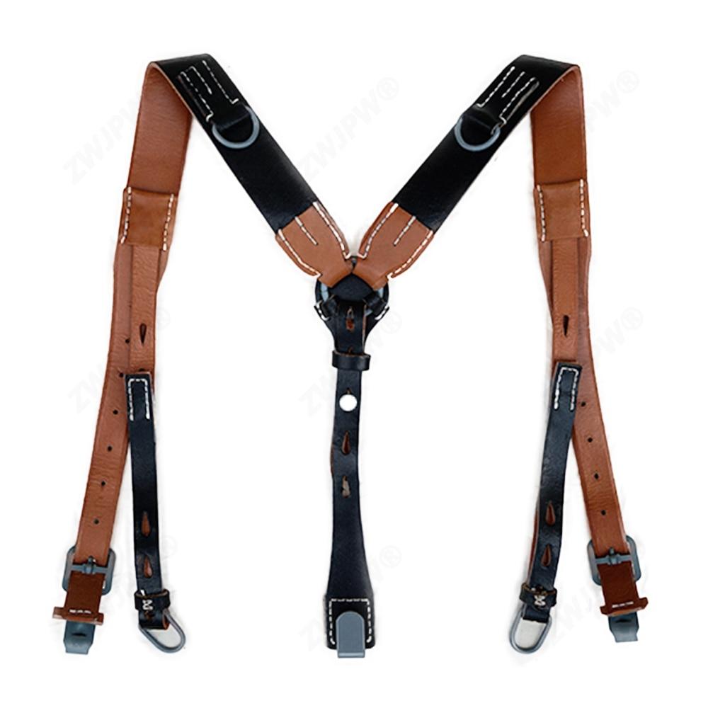 WWII WW2 армейский кожаный y-ремень охотничий слинг джунгли Черный DE/105101 высокое качество