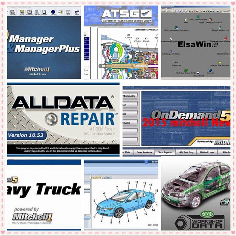 2019 Alldata and mitchell software Auto Repair data Alldata 10.53 Mitchell ondemand5 2015v Vivid workshop data ElsaWin 1TB HDD