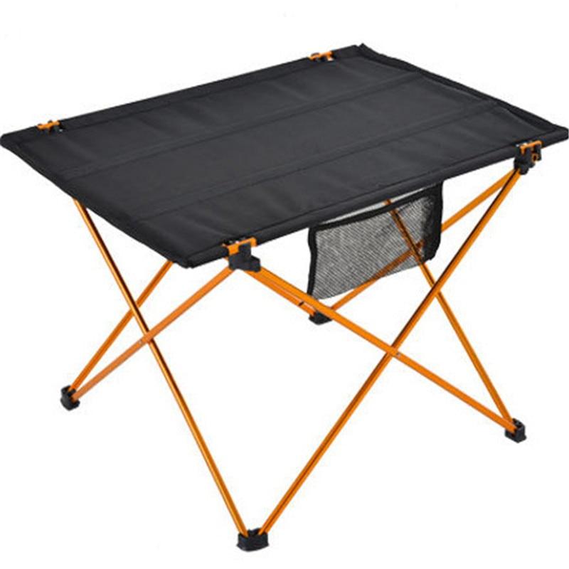 Mesa plegable portátil ligera de aleación de aluminio para acampar, actividades al aire libre, mesa plegable para Picnic, barbacoa, mesa plegable