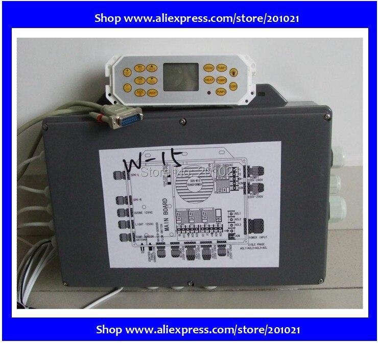مجموعة كاملة من وحدات التحكم في السبا ، بما في ذلك صندوق التحكم ولوحة التحكم لـ Winer Hotpool AMC series ، Happy Kiwi spa