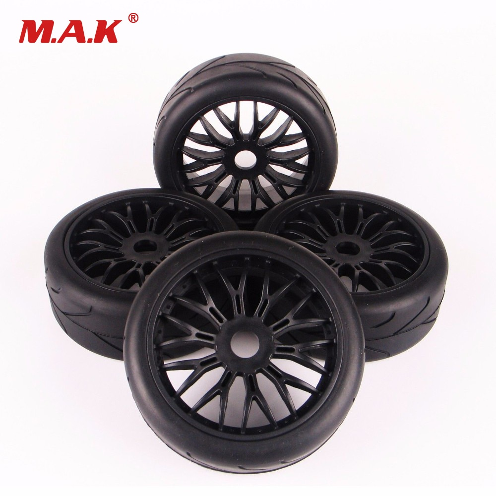 Купить с кэшбэком 1/8 scale car off-road rubber tires and wheel rim model toys for HPI HSP Traxxas RC car buggy toys accessories parts
