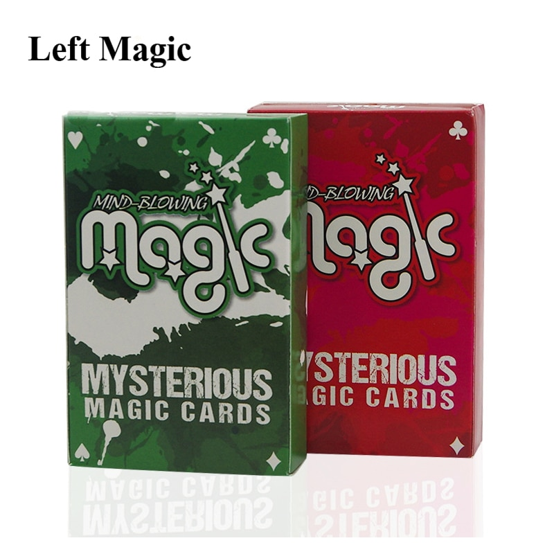 Invisible baraja de póquer trucos de magia alucinante misteriosa magia tarjetas Tarjeta de magia de Mentalismo cerca de la calle