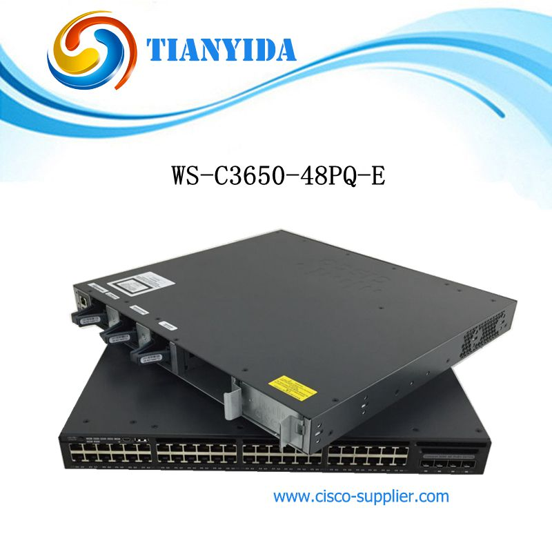 New WS-C3650-48PQ-E Catalyst 3650 48 Port PoE 4x10G Uplink IP Services Gigabit Ethernet Switch