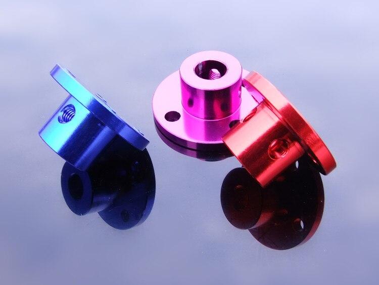 Фланцевая муфта из алюминиевого сплава, 5 мм, красная, 6 мм, синяя, 8 мм, фиолетовая Опора вала сиденья для 1 шт.