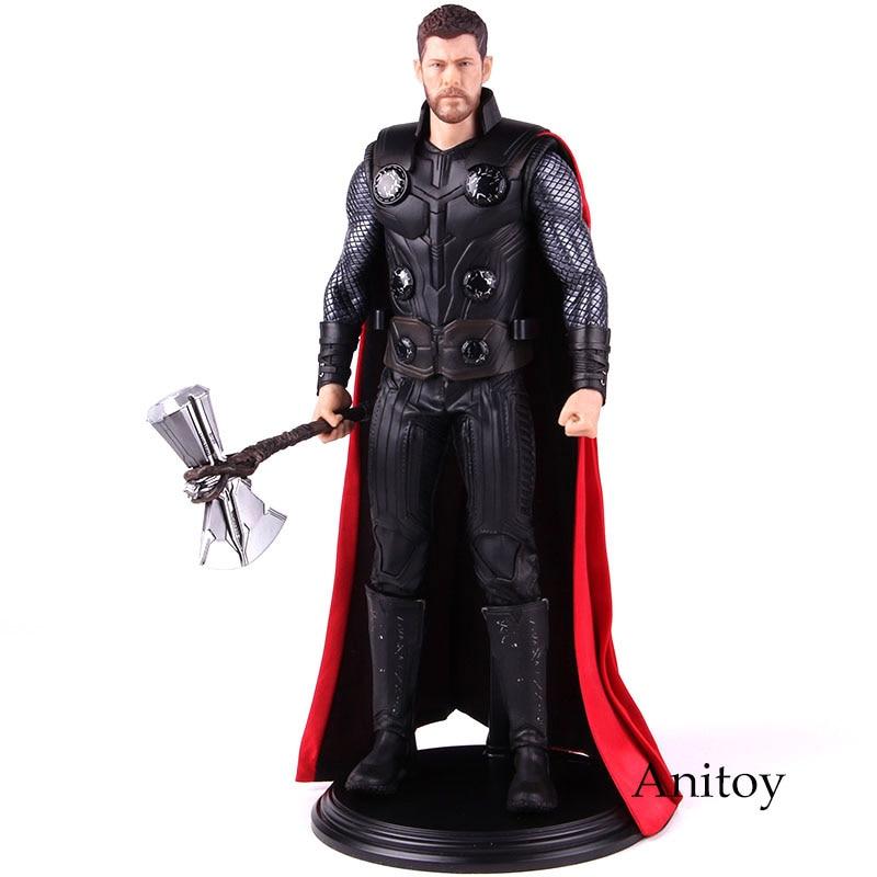"Marvel vengadores Infinity War Thor con ""Stormbreaker"" figura de acción/1/6th Escala de PVC juguete de modelos coleccionables 30cm"