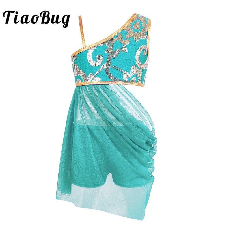 Tiaobug garoto adolescentes floral lantejoulas camis topo malha saia conjunto meninas ginástica shorts ternos lírico contemporâneo ballet dança traje