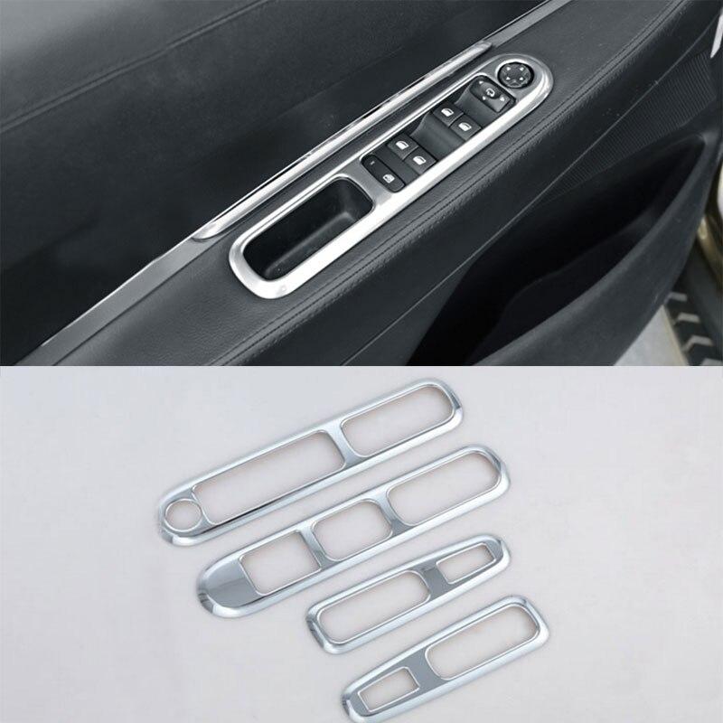 Jameo Auto accesorios de estilo de coche para Peugeot 3008, 2009 - 2015 Puerta de coche elevador de ventana de protección Chrome tira de ajuste pegatinas
